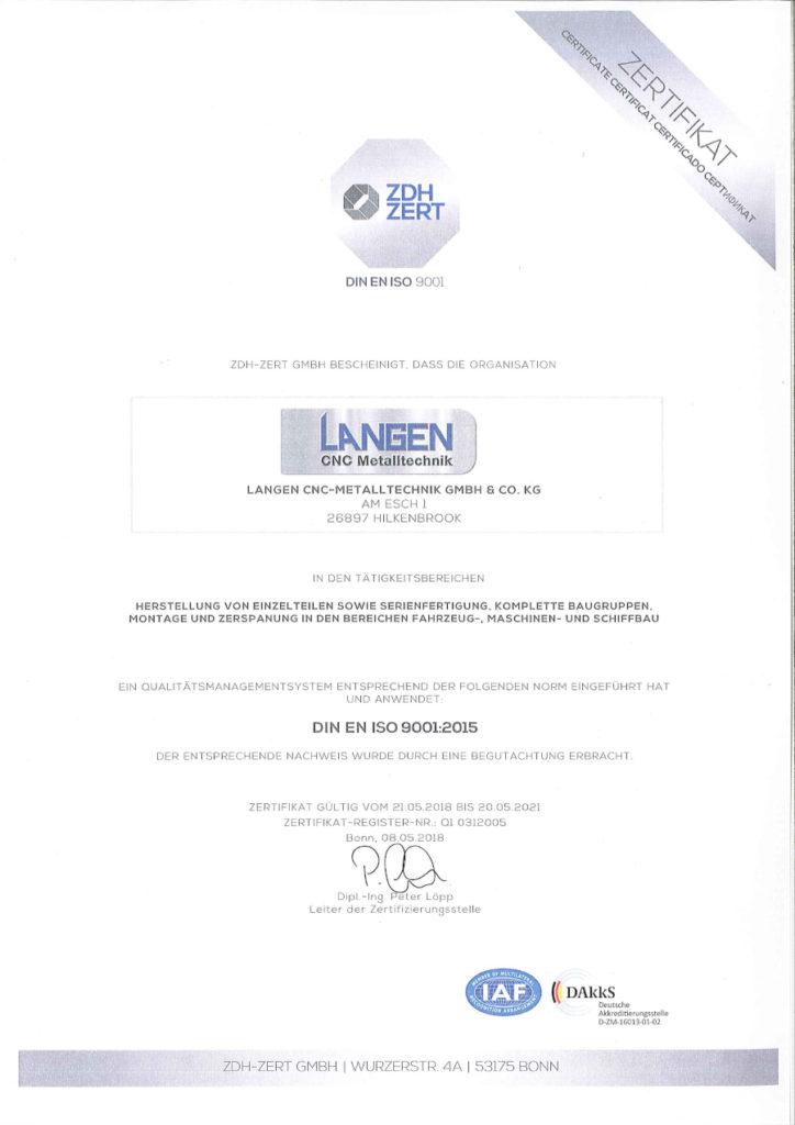 ZDH Zert DIN EN ISO 9001-2015