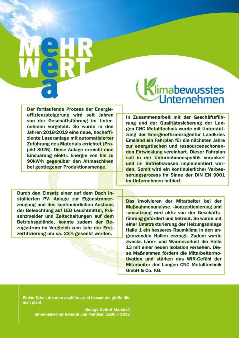 Urkunde Klimabewusstes Unternehmenen-2